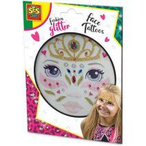 Fashion glitter gezicht tattoo`s SES: prinses