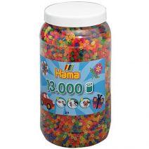 Strijkkralen in ton neon 13000