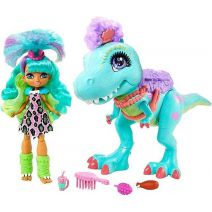 CAVE CLUB 20 cm Rockelle-pop en haar T-Rex