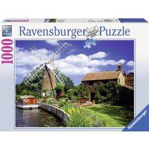 Ravensburger puzzel Schilderachtige molen - Legpuzzel - 1000 stukjes