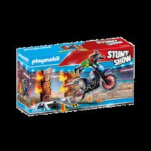 Playmobil Stuntshow 70553 motor met vuurmuur