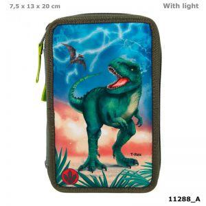Dino World 3-vaks etui LED T-Rex