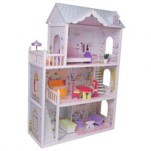 Poppenhuis + 13dlg meubelset
