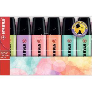 Stabilo boss pastel etui 6 kleuren