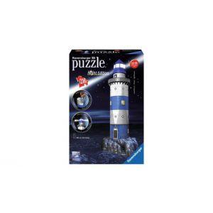 3D Puzzel Vuurtoren bij nacht