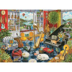 Puzzel 500 stuks de muziekkamer