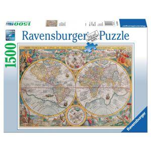 Puzzel 1500 wereldkaart 1594