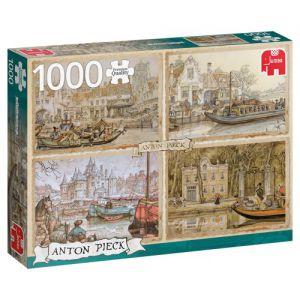 Puzzel Anton Pieck boten op de gracht
