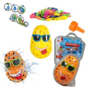 Splash potato met waterballon