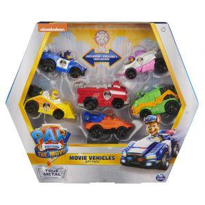 Paw patrol the movie true metal vehicles gift-pack (6 stuks)