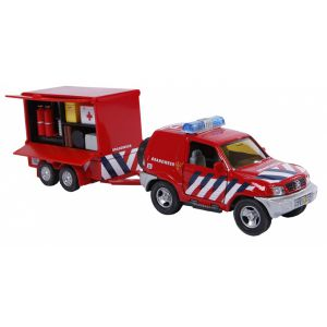 Auto brandweer met aanhager