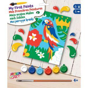 My first schilderen op nummer papegaai