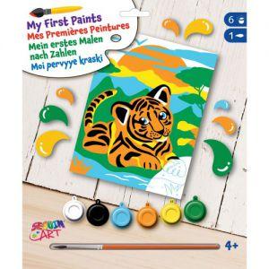 My first schilderen op nummer tijger