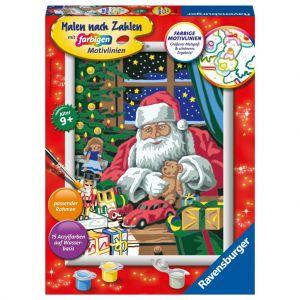 Schilder Op Nummer Kerstman Kerstwerkplaats