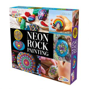 Neon Rock stenen schilderen