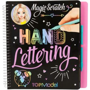 Topmodel magic scratch handlettering