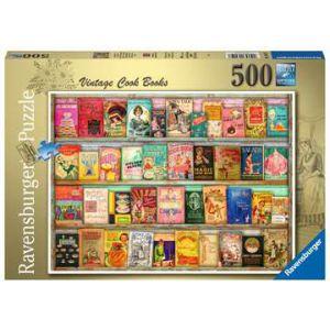 Puzzel 500 stuks vintage kookboeken
