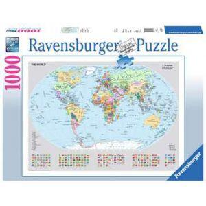 Puzzel 1000 stuks staatkundige wereldkaart