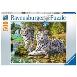 Puzzel 500 stuks wilde roofkatten