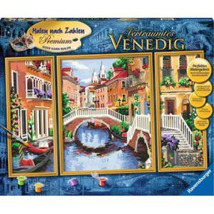 Schilderen op nummer Venetie drieluik