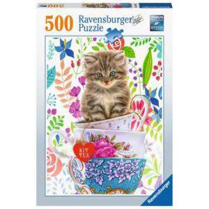 Puzzel 500 stuks katje in kopjes