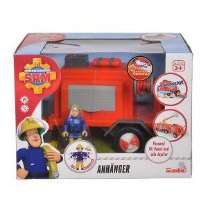 Brandweerman Sam Aanhanger met figuurtje
