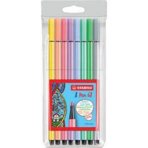 Stabilo pen 68 etui 8 stuks pastel