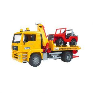 Bruder Vrachtwagen Bergingstruck Met Jeep