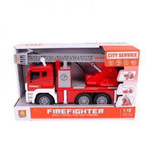Brandweerwagen Met Pomp B/O 30 Cm