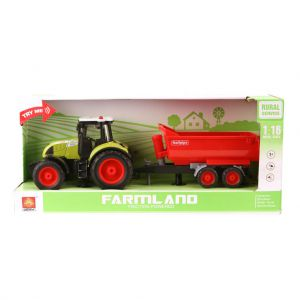 Tractor Met Aanhanger Rood