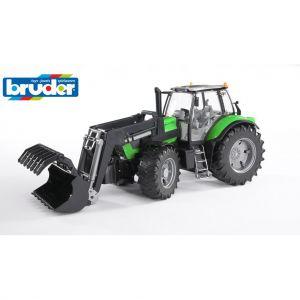 Bruder Tractor Deutz Agrotron X7 met voorlader