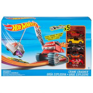 Hot Wheels Crane Crasher speelset