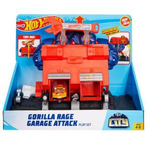 Hot Wheels razende gorilla garage aanval speelset