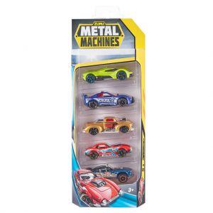 Metal Machines Diecast Auto's 5 Pack Assorti Zuru