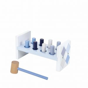 Jipy hamerbank hout blauw