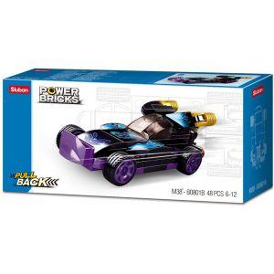 Sluban Power Brick Car Purple Raptor