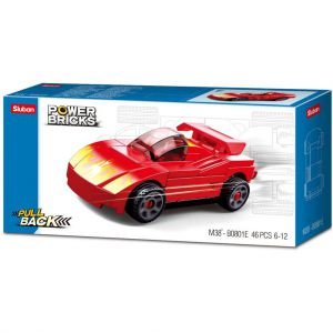 Sluban Power Brick Car Red Furious