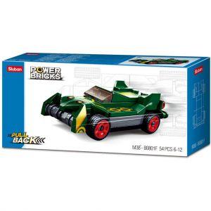 Sluban Power Brick Car Drifting Green