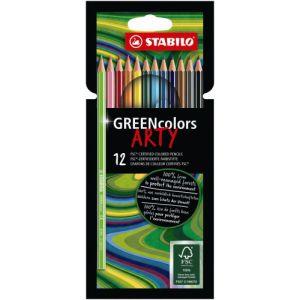 Kleurpotlood Stabilo Arty Green Colors: 12 stuks