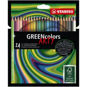 Kleurpotlood Stabilo Arty Green Colors: 24 stuks