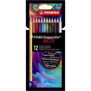 Kleurpotlood Stabilo Arty Aquacolor: 12 stuks