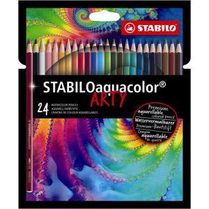 Kleurpotlood Stabilo Arty Aquacolor: 24 stuks
