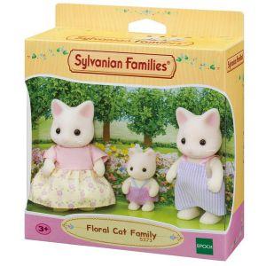 Sylvanian families witte kat familie