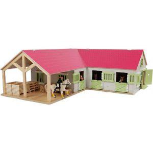 Paardenstal roze 68x77x27cm