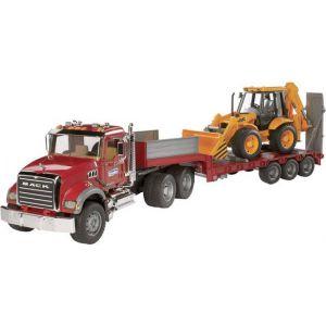 Bruder auto vrachtwagen MAN TGD dieplader met JCB 4CX