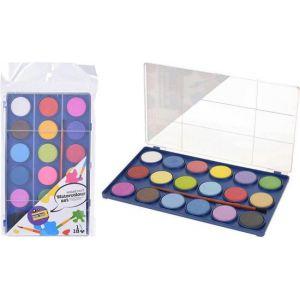 Waterverf tablet 18 kleuren