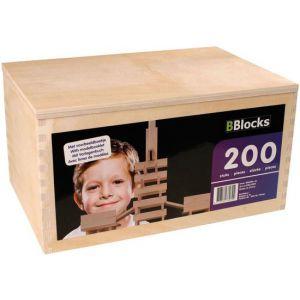 Bblocks 200 delig in houten kist