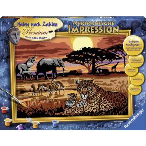 Schilderen op nummer Afrikaanse impressie