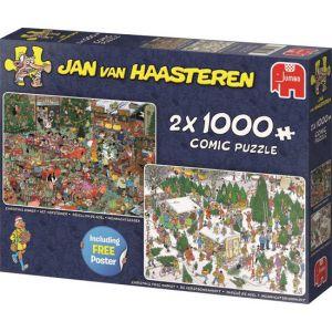 Puzzel Jan v Haasteren 2x1000 Kerst