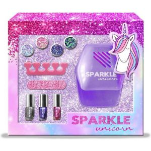 Manicure set sparkly unicorn